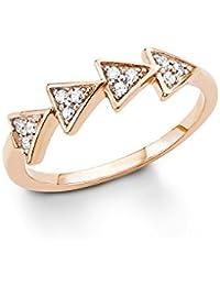 s. Oliver Damen-Ring 925 Silber teilvergoldet Zirkonia weiß Rundschliff - 5409