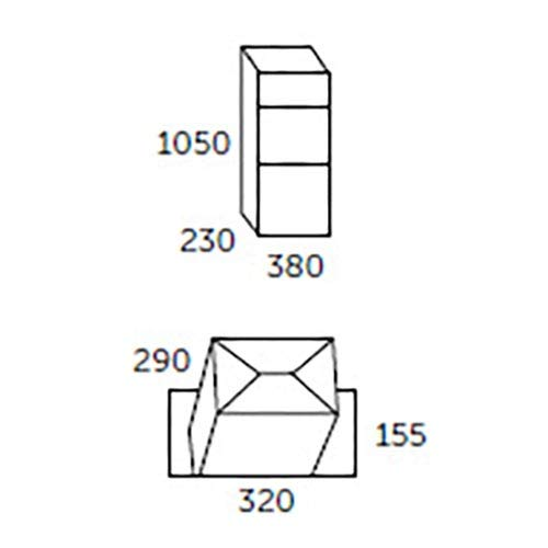 Allux 600 anthrazit Entnahme vorne - 7