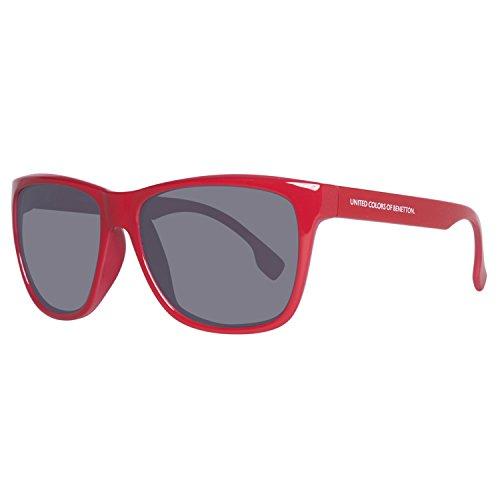 United Colors of Benetton Unisex-Erwachsene BE882S03 Sonnenbrille, Rot (Red), 58