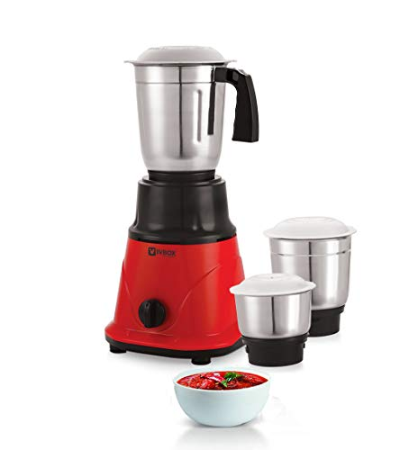 iVBOX Nano-Power 550-Watt Mixer Grinder with 3 Steel Jar
