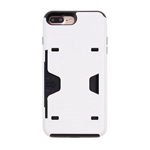 iPhone Case Cover Pour iPhone 7 Plus champion de boxe Gold Belt résistant aux chocs TPU + PC combinaison cas avec slot pour carte ( Color : Gold ) White