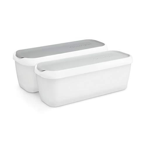 Recipientes conservación de helados 1L, juego de 2 | Recipientes con tapas | Contenedor para helado
