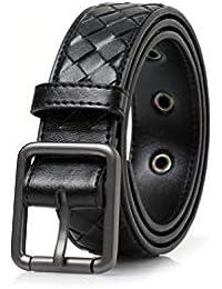 Laisla fashion Cinturón Tejido Para Hombre Matorral Hecho A Mano Hebillas  Clásico De Cinturón Cinturones Cinturón 5b62bfa2852c