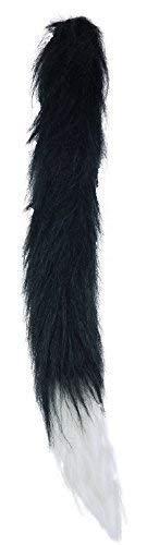 Kinder Junge Mädchen Flauschig Schwarze Katze Schwanz Tier Natur Halloween Tier Kostüm Kleid Outfit Zubehör ()