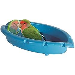 Bañera con Espejo para periquitos, Canarios, agapornis. Diversion y Entretenimiento garantizados para tu Mascota