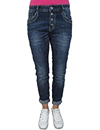 917efbd2438c Karostar by Lexxury Denim Stretch Baggy-Boyfriend-Jeans Boyfriend 4 Knöpfe  offene Knopfleiste weitere