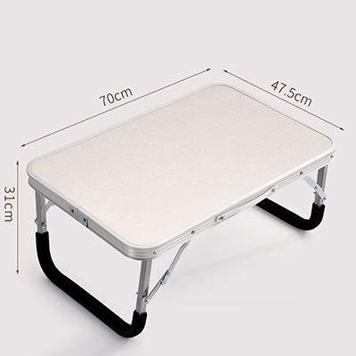 Esstisch Tragbare klappbare Laptop Tisch Eisen Lager Schlafsofa Büro Laptop Ständer Schreibtisch Computer Notebook Bett Tisch (Farbe : HH470900CS1) -