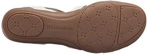 Naturalizer Cassie Femmes Large Cuir Sandale white