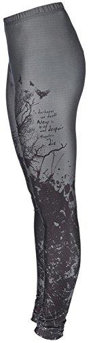 Black Premium by EMP Bough Skull Leggings Leggings grigio/nero S