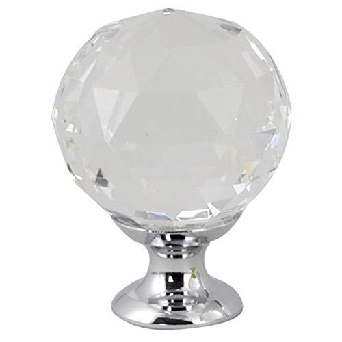 TOOGOO 10 StüCke 40 Mm Diamant Form Design Kristall Glas Kn?Pfe Schrank Schublade Ziehen KüChen SchranktüR Kommode Kleider Schrank Griffe Hardware Zubeh?R Silber