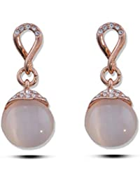 Sukkhi Pearl Drop Earrings for Women (Pink)(E80775)