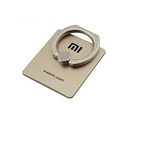 Xiaomi 360 degree Rotating Finger Ring Holder Stand to Grip your REDMI MI Mobile Phones ( Gold colour )
