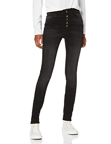ONLY NOS Damen Onlblush Hw Button Sk Rea1099 Noos Skinny Jeans, Black Denim, M / 34L -