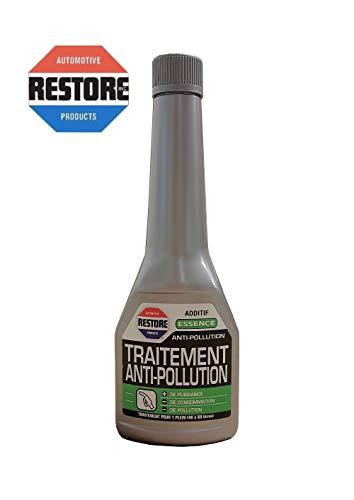 Additif Essence Traitement Anti Pollution Réducteur Gaz Echappement Restore