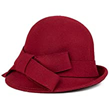 Le Donne Inverno Vintage Cloche Stile Boekont Cappotto Di Lana Derby  Secchio Cappello Fedora f4a20c2387f7