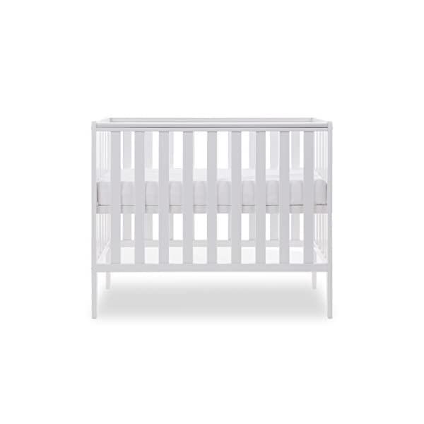 Obaby Bantam Space Saver Cot, White Obaby Adjustable, 3 position base height Beautiful slatted ends and sides help you keep an eye on your little one Teething rails ensure delicate teeth are protected 2
