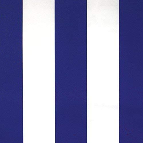 NOVELY® Sunrise Oxford 420D Markisenstoff   Weiß Blau   extrem reißfestes und dichtes Gewebe   UV-beständig   Polyester Stoff Outdoor Meterware Strandkorb Zeltstoff wasserdicht