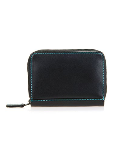 Our ingenious Zipped Credit Card Holder has a unique 'accordion' style construction, allowing you to browse all your cards in an instant! A back slip pocket is ideal for hiding emergency cash.