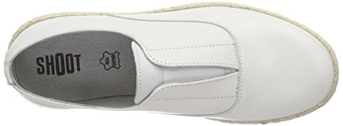 SHOOT Shoot Shoes Sh-150080ff Damen Leder Sommer Slipper Damen Slipper Weiß (White)