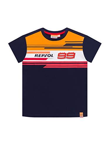 2019 Jorge Lorenzo #99 - Maglietta per Bambini e Ragazzi Repsol Honda MotoGP, Blue, Kids (Ages 6-7 Years)