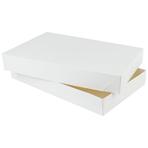 RUSPEPA 48,5 X 31 X 10,2 Cm Mantel Karton Geschenkboxen Groß, Große Geschenk-Boxen Mit Deckel Für Bekleidung, 5 Full Pack (Weiß) - Sperrige Pullover