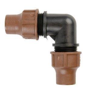 RAIN BIRD lock quick Bogen / Winkel 90° - 16 mm x 16 mm (Klemmverschraubung, Klemmverbinder, Verschraubung) -
