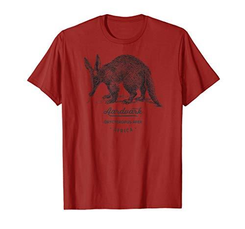 Aardvark Vintage Tier-Druck Geschenk Fauna Prints Geburtstag T-Shirt (Themed Geburtstags-party-ideen Boy)