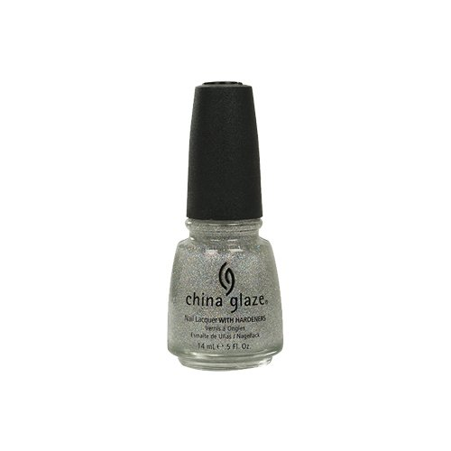 China Glaze Nail Lacquer with Hardner 3D Glitter -