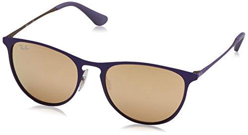 Ray-Ban Rayban Unisex-Kinder Sonnenbrille 9538s Rubber Brown/Violet/Demolens 50