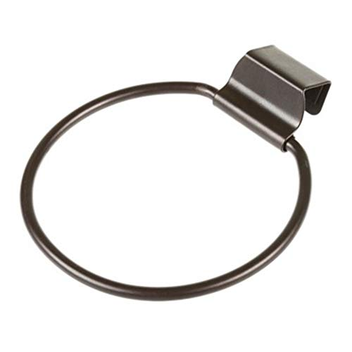 LIOOBO Runde über Tür Handtuchhalter Haken Handtuch Wäscheständer Bad Handtuchhalter Ring für Küche Bad Schublade (Schwarz/Dia: 13 cm)