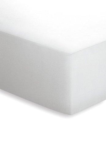 Schlafgut Haustuch als Spannbetttuch mit Rundumgummi/100 x 200 cm/weiß/12011-00001000-002-011