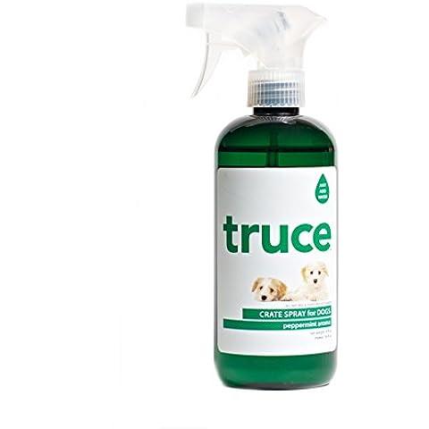 Tregua de los limpio - todo cajón Natural Spray para perros menta - 16 oz.