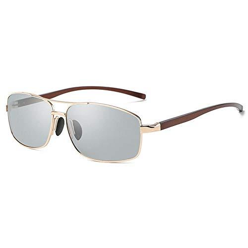 XIAONK Polarisierte Sonnenbrille Herrensonnenbrille Glare Light Color Polarized Driving@Gold