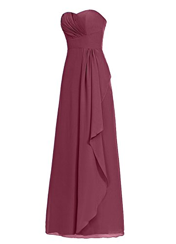 Dresstells Damen Herzform Abendkleider Bodenlang Homecoming Kleider Lilac
