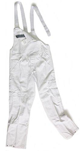 Preisvergleich Produktbild Malerhose Arbeitshose Berufshose Latzhose Malerlatzhose Arbeitslatzhose weiß auch in ÜBERGRÖßEN (56)