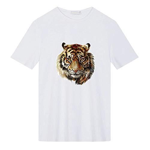 Vektenxi Premium Tigerkopf Muster Bügeln Aufkleber Wärmeübertragung DIY Zubehör Kleidung Patches Waschbare ()