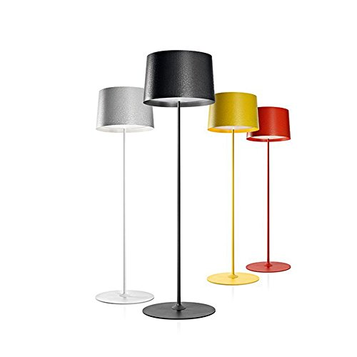 Leo Home Post Diseño Moderno Lámpara de pie blanco y negro ...