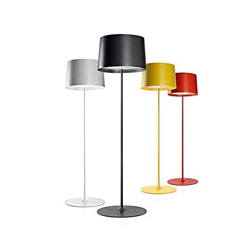 Cwill Post moderne Design Stehleuchte Schwarz Weiß Stehleuchte Metall Schlafzimmer Studie Wohnzimmer el Wohnung E27 LED Lampe, Stehlampe, Gelb -