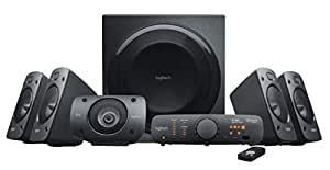 Logitech Z906 5.1 Surround Sound Speaker System, THX, Dolby & DTS Certified, 1000 Watts Peak Power, Multi -Device, Multiple Audio Inputs, Remote Control, PC/PS4/Xbox/Music Player/TV/Smartphone/Tablet