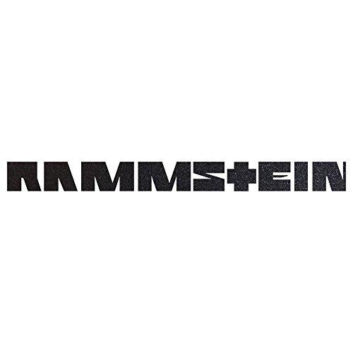 Rammstein Auto Aufkleber Sticker anthrazit-metallic (aussenklebend) 99cm, Offizielles Band Merchandise Heckscheibe