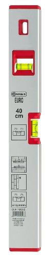 Connex COX735040 Wasserwaage 40 cm, Aluminium, Gefälleanzeige 2%