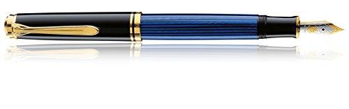 Pelikan Luxus Souverän M600Füllfederhalter, Schwarz/Blau