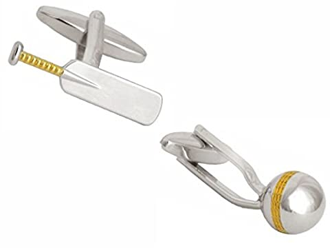 Cricket bat and ball Cufflinks. Premium Quality Cufflinks from the