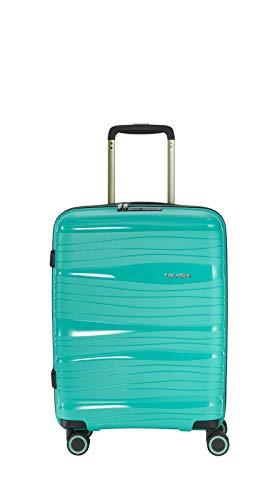 """Travelite Leichter, robuster und beweglicher Rollen-Reisekoffer Trolley """"Motion"""" mit Hartschalen in 4 Farben Koffer, 37 Liter, Minze"""
