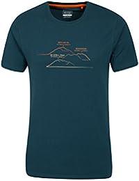 Mountain Warehouse T-shirt homme manches courtes Respirant Imprimé Résistant lavage British Peaks