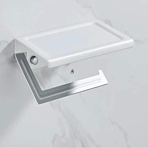 Wangxiaoxia-Home Toilettenpapierhalter Edelstahl-Licht-Papierhandtuchhalter High-End-Badezimmer Mobilpapierrollenhalter Hotel Square Round Toilettenpapierhalter Badezimmerzubehör für Haus oder Hotel
