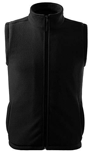 Adler Fleece Vest Unisex mit Reißverschluss und 2 Eingrifftaschen Anti-Pilling-Mikrofleece Black 3XL