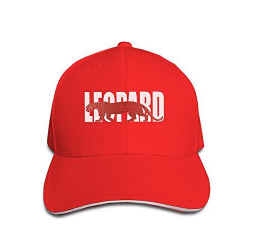 Classic Cotton Hat Adjustable Plain Cap, Baseball Cap Adjustable Size Curved Visor Hat Leopard Fashion Print Leopard Silhouette Pattern Fashion le Leopard-visor