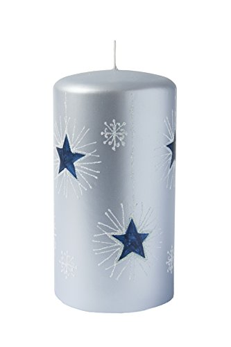 Unipar Brillance Adviento Vela de Calidad, parafina, 8x 15cm, Metallic Azul zart-Azul Oscuro M 85