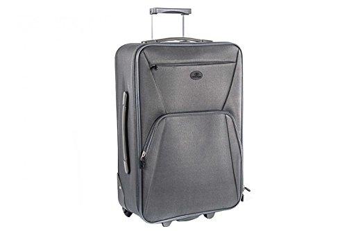 Valigia trolley semirigido SWISH JEANS grigio mini bagaglio ryanair S66